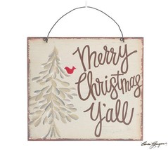 Wall Hanging Merry Christmas Y'All Sign - $32.48