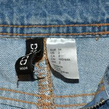 Divided by H&M Women's Ripped Distressed Blue Jean Denim Mini Skirt Size 2 image 3