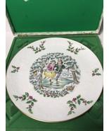 Vintage 1977 ROYAL DOULTON Christmas Boy Girl Ice Skaters Plate w/ Origi... - $46.55