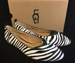 Ugg Australia Lynley Exotic Zebra Print Calf Hair Ballet Flats Womens 1019613 - $89.99