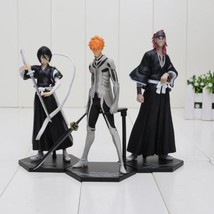 3pcs/set 16cm Bleach Kurosaki ichigo Kuchiki Rukia Abarai Renji PVC Acti... - $62.68