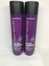 2x Matrix Total Results Color Obsessed Antioxidant Shampoo for Color Car... - $30.76