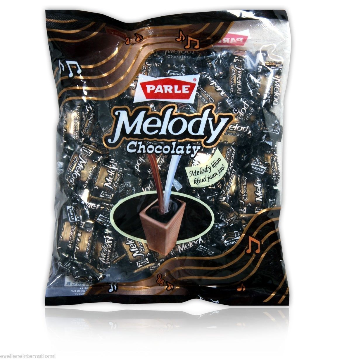 Parle Melody  Chocolaty  Chocolate  391 Gm Pouch  Candy  Melody