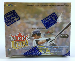 2001 Fleer Ultra Baseball Retail Box - 20 Packs - 10 Cards Per Pack - Ic... - $69.29