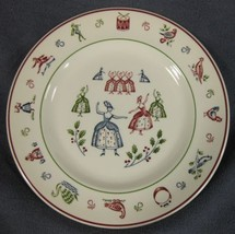 Nine Ladies Dancing Salad Plate Johnson Brothers Twelve Days of Christmas  - $14.95