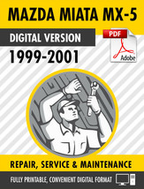 1999-2001 Mazda Miata MX-5 Factory Repair Service Manual - $9.90
