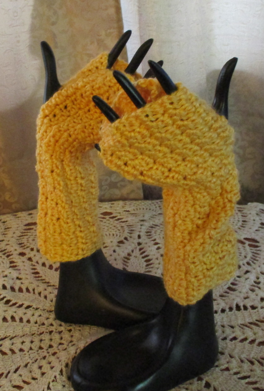 Yellowfingerlessmitts
