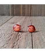 Curious George Earrings Handmade - $5.82