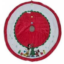 "DISNEY Mickey and Minnie Mouse Pluto 2014 Christmas Tree Skirt Holiday Decor 54"" - $116.86"