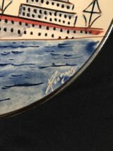 Vintage Barcelona Spain Ceramic Signed Plate Souvenir Collectible Plate Decor image 2