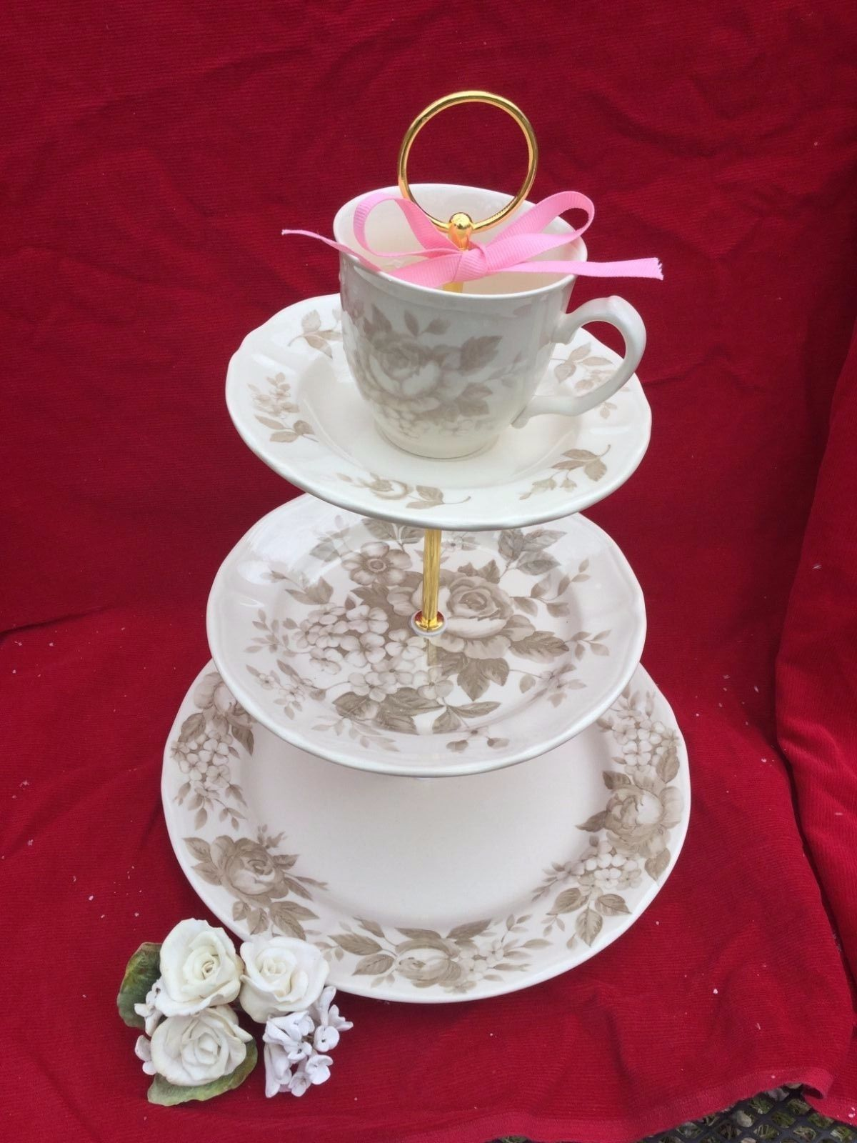 Antique Rose Wedding Cake Stand 3 Tier And 50 Similar Items
