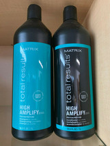 Matrix Total Results High Amplify Shampoo & Conditioner 33.8oz LITER DUO... - $33.99