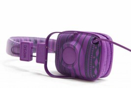 WeSc Maraca Larper Stripe/Dark Purple Compact Folding Headphones O/S NIB