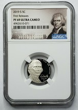2019 S Proof 5C Nickel NGC PF69 ULTRA CAMEO First Releases SKU C46 image 1