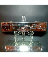 1 (One) GODINGER SILVER-PLATE Birth Certificate Box Stork ABC 123 Blocks - $23.74
