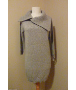 NWT Le Pavot Heather Gray Pure Cashmere Fichu Neckline Tunic Sweater SZ ... - $262.35