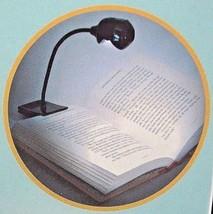 """Easy Read Book Light Clip 8"""" Flexible Goose neck  LED Button Battery - $8.99"""