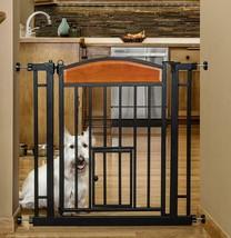 Small Dog Gate Indoor Pet Fence Baby Barrier Adjustable Walk Thru Swingi... - $97.23