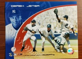 DEREK JETER PHOTO New York Yankees OFFICIAL MLB LICENSED Vintage FREE SH... - $9.95