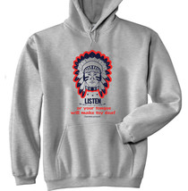 Cherokee Poverb Listen - New Cotton Grey Hoodie - $40.34