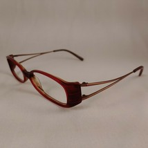 ANNE KLEIN Eyeglass Frames AK8049 135 Red Pink Brown Metal Plastic Eyewear Frame - $22.46