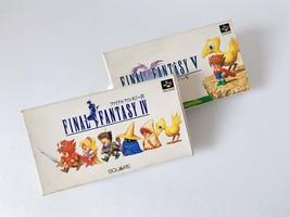 Nintendo Super Famicom Set of 2 Final Fantasy IV Final Fantasy V JP Game... - $46.15