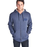 NEW LEVI'S MEN'S PREMIUM SHERPA CLASSIC COTTON HOODIE JACKET SWEATER BLUE - $37.99