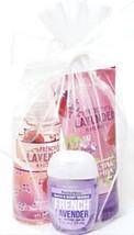 Bath & Body Works French Lavender Body Lotion, Spray & Just Peachy Pocke... - $16.93