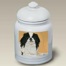 Japanese Chin Black & White Treat Jar - $44.95