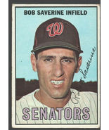 Washington Senators Bob Saverine 1967 Topps Baseball Card #27 vg+ - $0.85