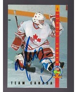 MANNY LEGACE AUTOGRAPHED CARD 1993-94 CLASSIC TEAM CANADA - $3.58