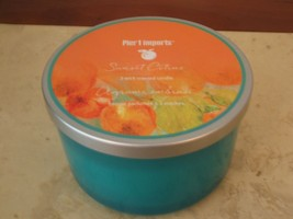 NWT PIER 1 SUNSET CITRUS  3  WICK CANDLE - $34.64