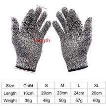 Cut-resistant Anti-Knife Glove Chain Saw Safty Gloves Level 5 Protection... - $7.49