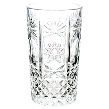 Pack of 24 Crystal Glass Cup with Pattern Clear Tableware Party Supplies... - $87.58