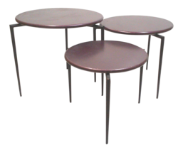 Vintage Modernist Purple Nesting Tables-Set of Three - $875.00