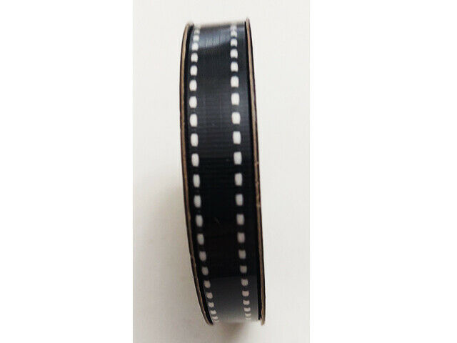 """Hobby Lobby Ribbon Boutique Black with White Stitching Ribbon, 3/8"""" x 15 Ft"""
