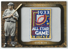 Babe Ruth New York Yankees 2009 Topps Legends Commemorative Patch 1933 MLB All S - $33.95