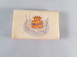 Vintage Best Western Mini Soap Bar w/ Map of United States - $4.00