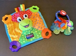 Nuby Green Frog Teething Blankie And Nuby Teether Blanket BPA Free EUC - $9.50