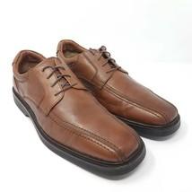 Johnston & Murphy Mens Oxfords Shoes Brown Sheepskin Bicycle Toe Waterpr... - $29.87