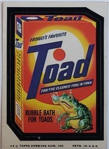 1974/ 6th S TOPPS WACKY sticker TOAD Froggy's Favorite Bubble Bath for Toads - $1.95