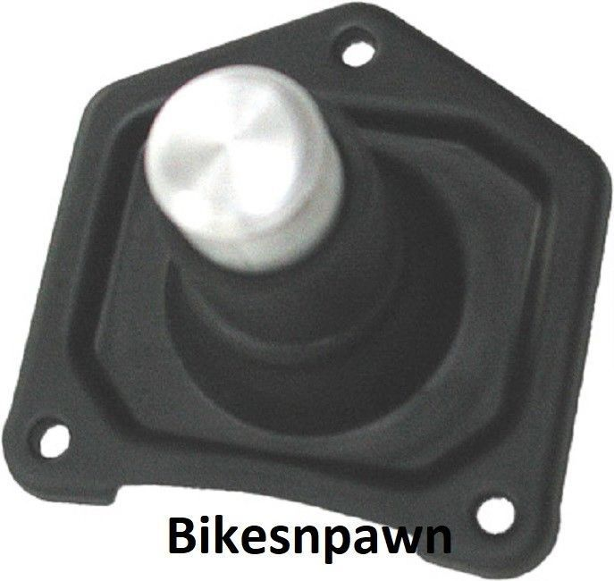 New Black Wrinkle Solenoid Starter Button 1990-2006 Big Twin Harley