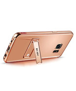 Metal Bumper + Acrylic Mirror Case with Stand for Samsung Galaxy S7 - Ro... - $10.99
