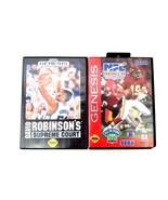 Sega Genesis Games David Robinson's Supreme Court 92 & NFL Football 94 w... - $14.95