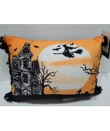 """Spooky Night Haunted House Witch Throw Pillow Gorgeous! 10"""" x 14"""" - $27.71"""