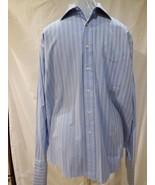 Tommy Hilfiger Men's Long Sleeve XL Button Up Casual Dress Shirt Blue 17... - $12.46