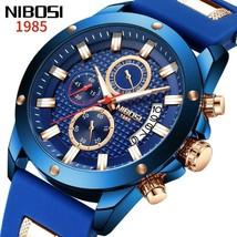 Ship From USA NIBOSI Watch Men Quartz Silicone Fashion Watches Waterproof Shockp image 1