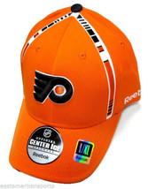 Philadelphia Flyers NHL Reebok Orange Center Ice Hat Cap Stripe Flex Fit... - $288,07 MXN