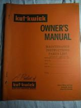 Kut-Kwick J1000-31,36 J1600-31,36 lawn tractor orig owner's parts manual **rare - $16.41
