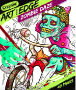 Crayola Art With Edge Zombie Daze Coloring Book 40 Pages - $9.16